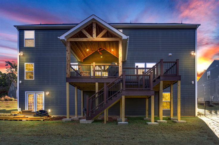 Trex Covered Porch & Elevated Deck, Duncan SC