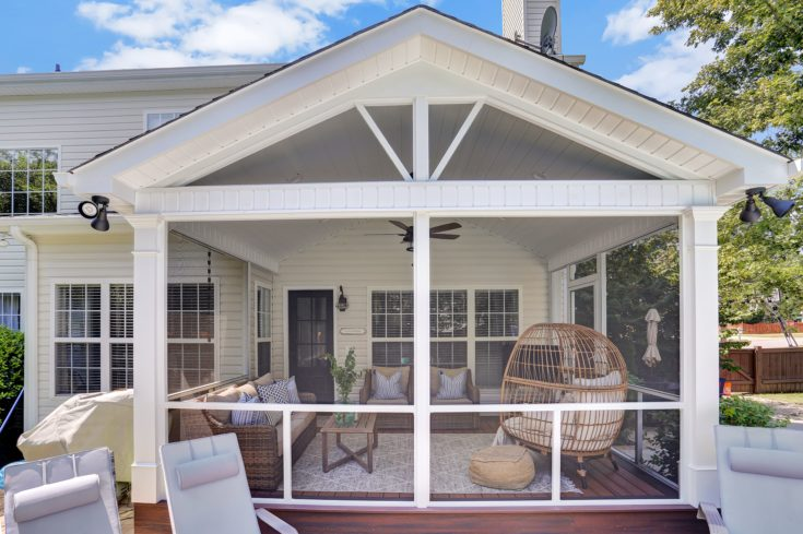 Cathedral Ceiling Trex Screen Porch, Simpsonville SC