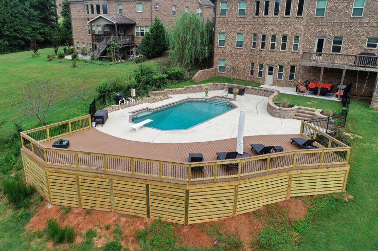 Custom Trex Pool Deck, Greer SC