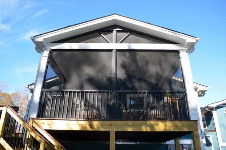 Trex Screen Porch with Aluminum Screen System, Greenville SC