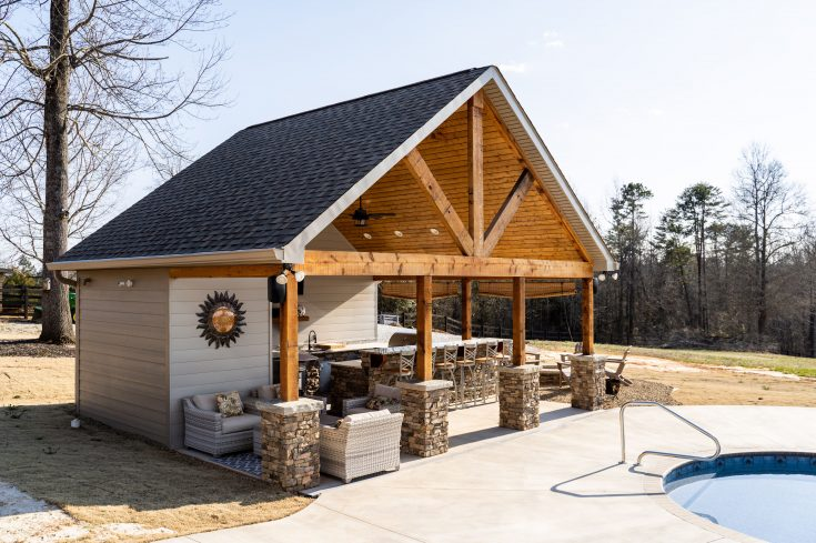 Pool House with Custom Outdoor Kitchen, Travelers Rest SC