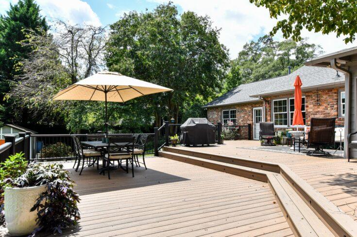 Beautiful Trex Deck Porch With Trex Railings In Spartanburg, SC